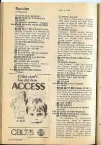 TV Guide 1 pg